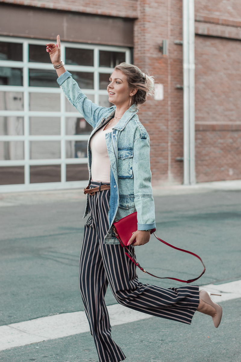 jeans jacket fall look