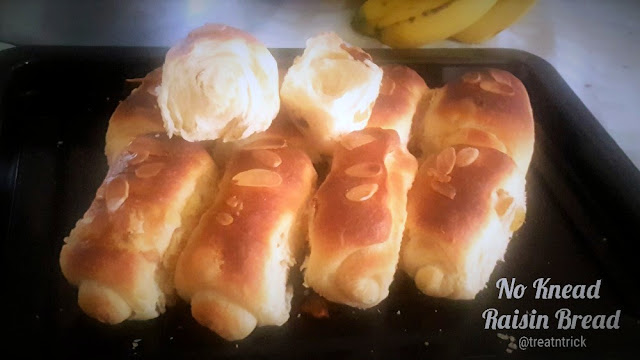 No Knead Raisin Bread Recipe @ treatntrick.blogspot.com