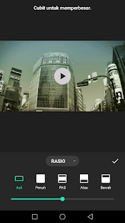 Cara edit video mengubah rasio video menggunakan aplikasi Inshot di Android