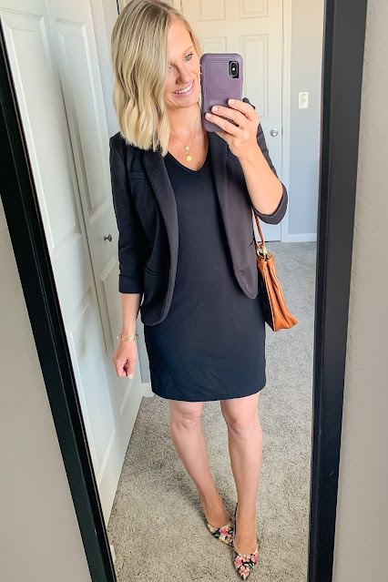 Postpartum work outfit