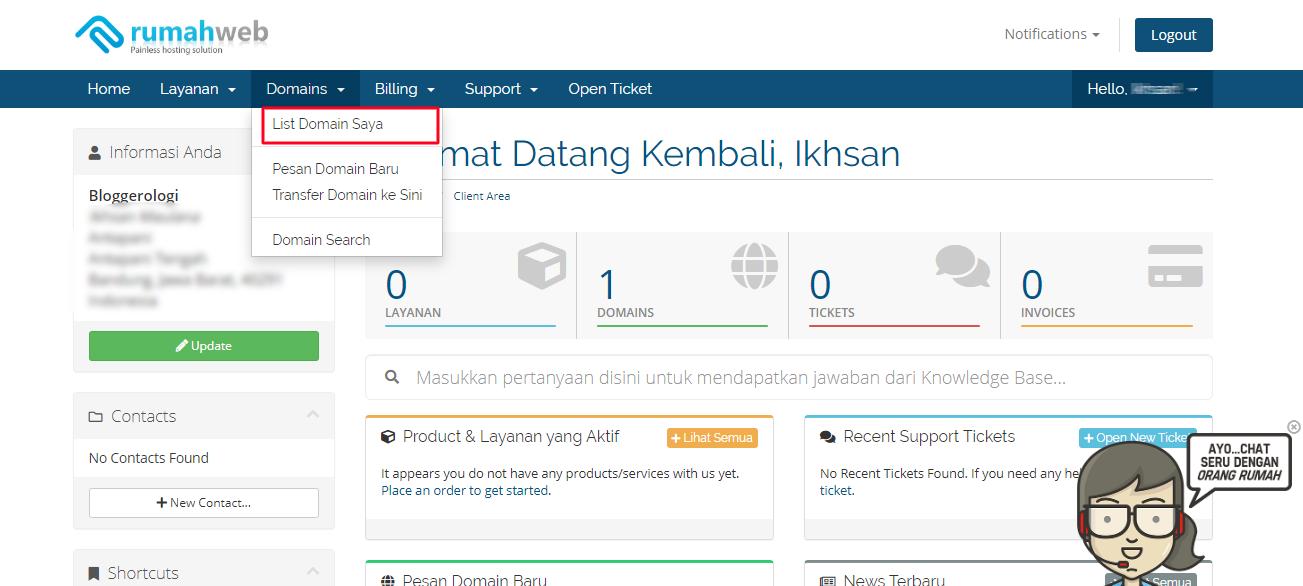 langkah memasang domain - 4