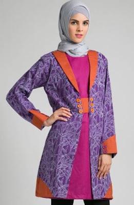 model atasan batik wanita muslimah mewah