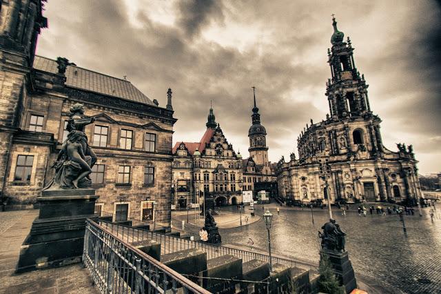Scalinata della Bruhlsche terrace-Dresda
