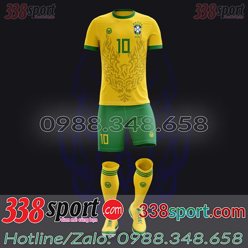 Áo Đội Tuyển Brazil Đặt May Theo Yêu Cầu - Mã BRAZIL 03