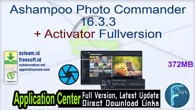 Ashampoo Photo Commander 16.3.3 + Activator Fullversion