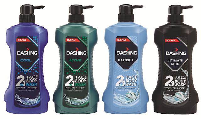 DASHING 2 in 1 Face & Body Wash,
