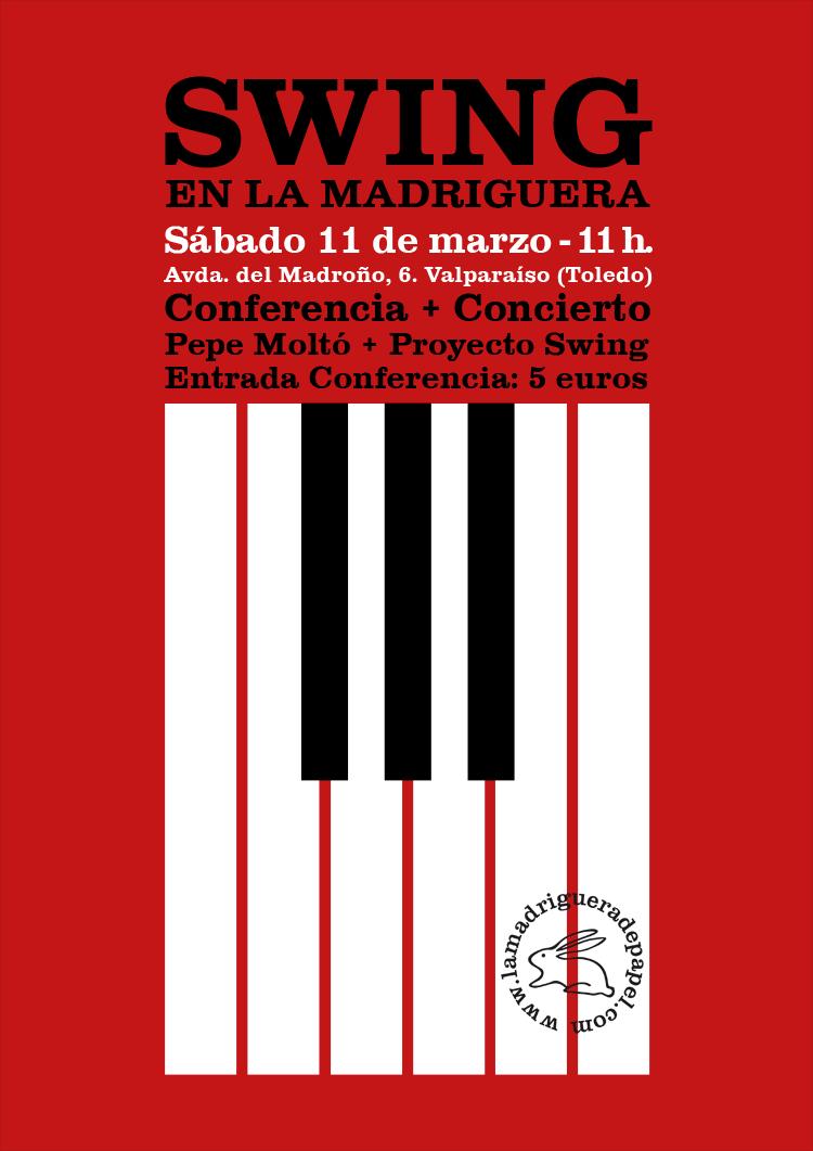 TOLEDO-LIBRERÍA-LA MADRIGUERA DE PAPEL-MÚSICA-CONFERENCIA-CONCIERTO-PEPE MOLTÓ-PROYECTO SWING