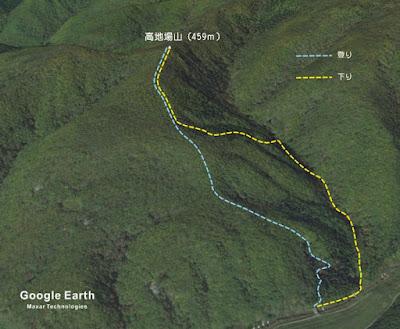高地場山行程略図