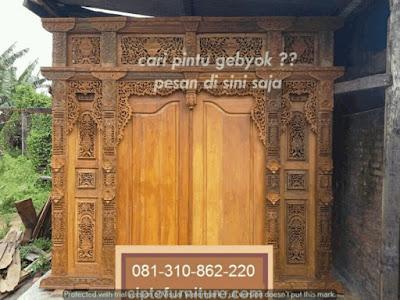 Contoh Gambar Pintu Gebyok jati Jepara