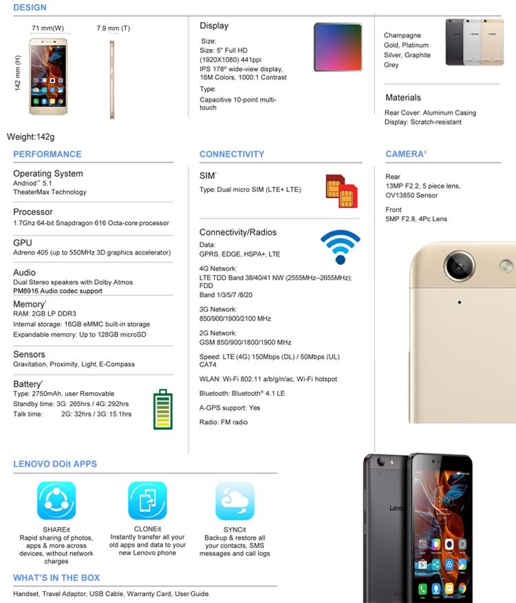 Lenovo Vibe K5 Plus Ponsel Menengah Terasa Mewah