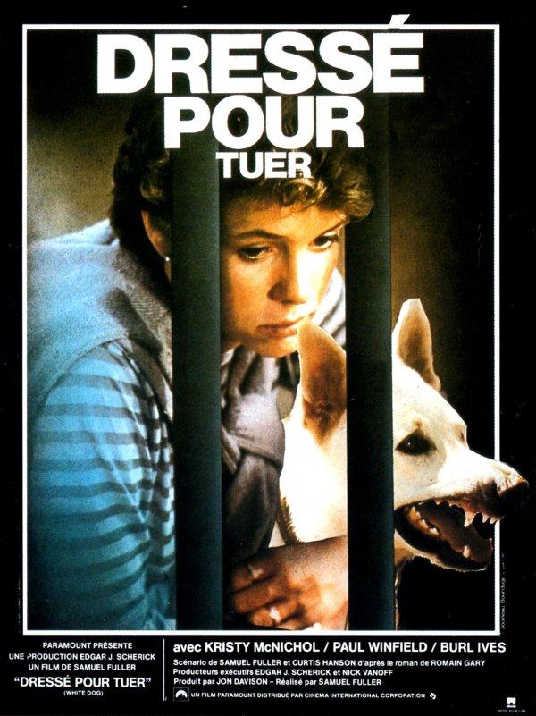 l'affiche du film White Dog de Samuel Fuller, mis en musique par Ennio Moriconne