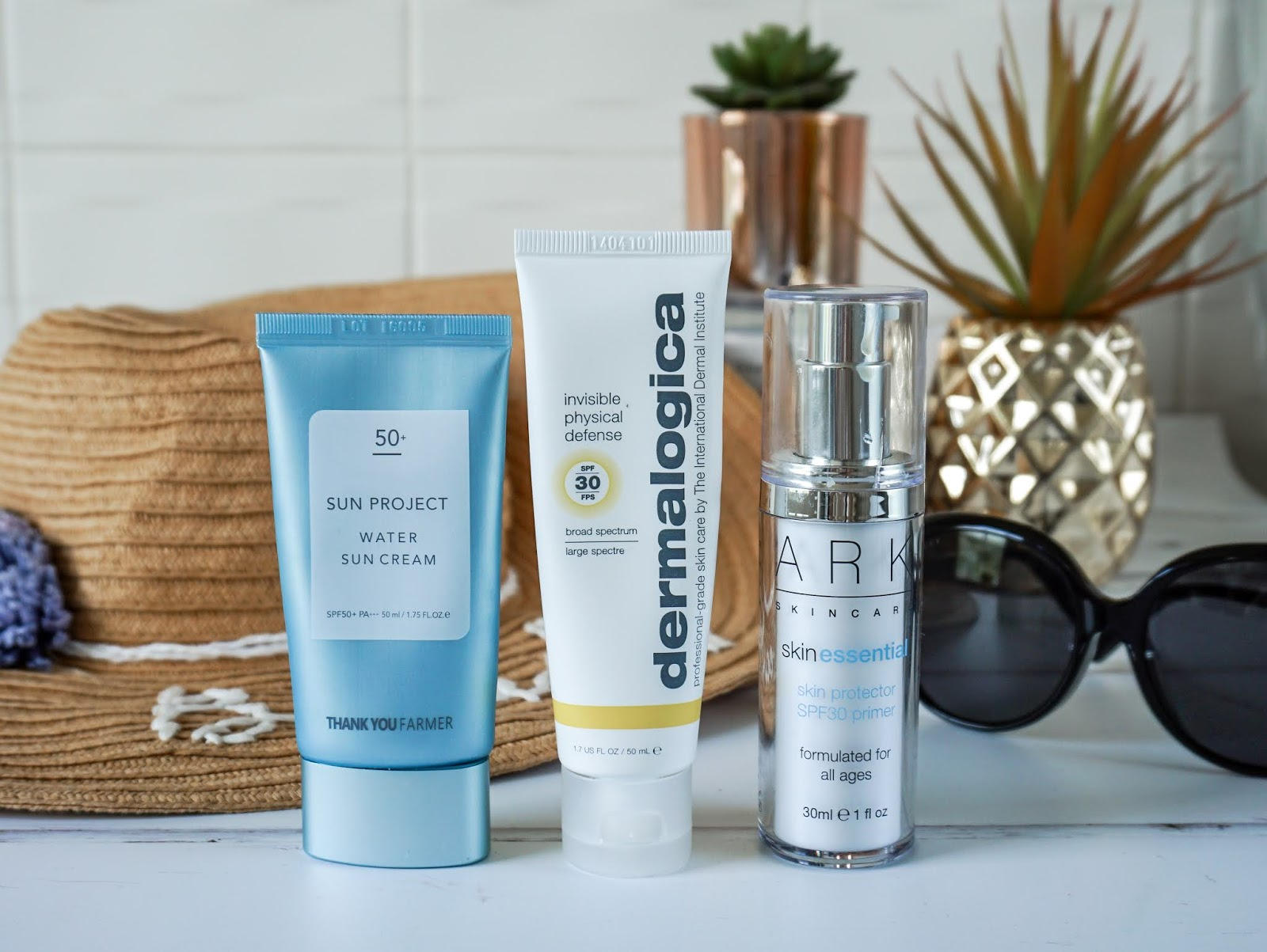 Best facial SPF products, Thank you Farmer Sun Project Water Sun Cream, Dermalogica Invisible Physical Defence SPF30, ARK Skincare Skin Protector SPF30 Primer