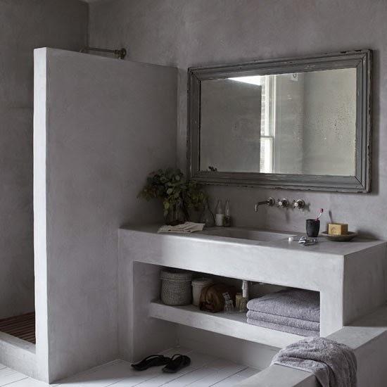 Cuartos De Baño En Microcemento:Amores Bohemios: Baños de obra y microcemento