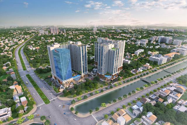 Phối cảnh chung cư Hinode City Minh Khai
