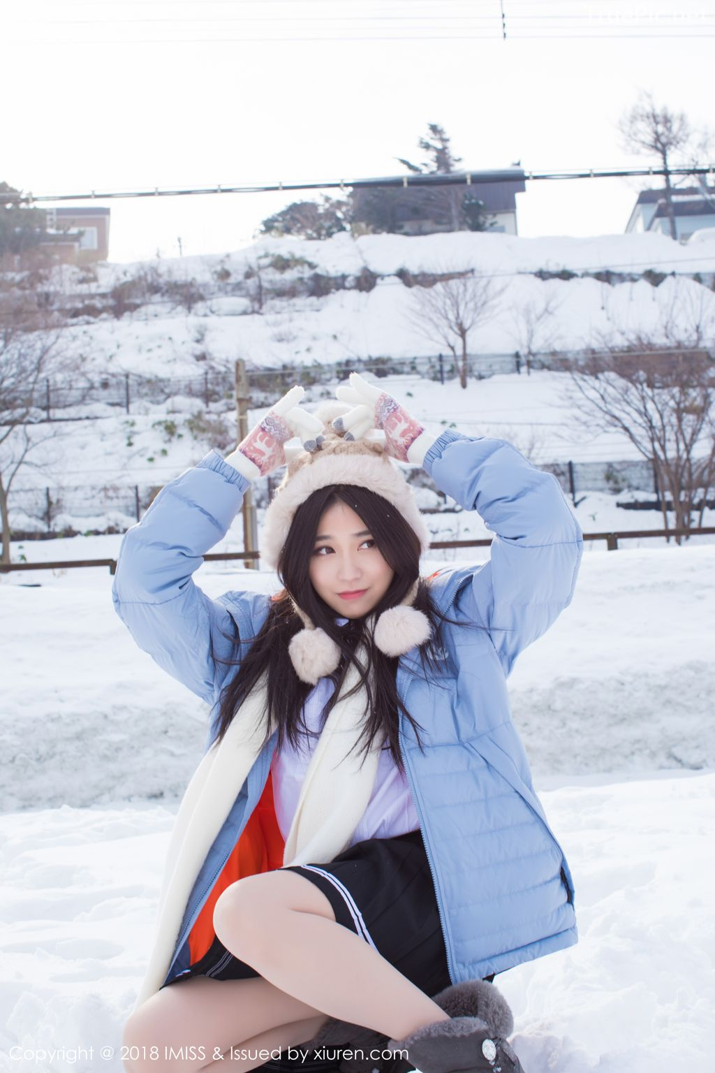 Image-IMISS-Vol.262-Sabrina model–Xu-Nuo-许诺-Sparkling-White-Snow-TruePic.net- Picture-3