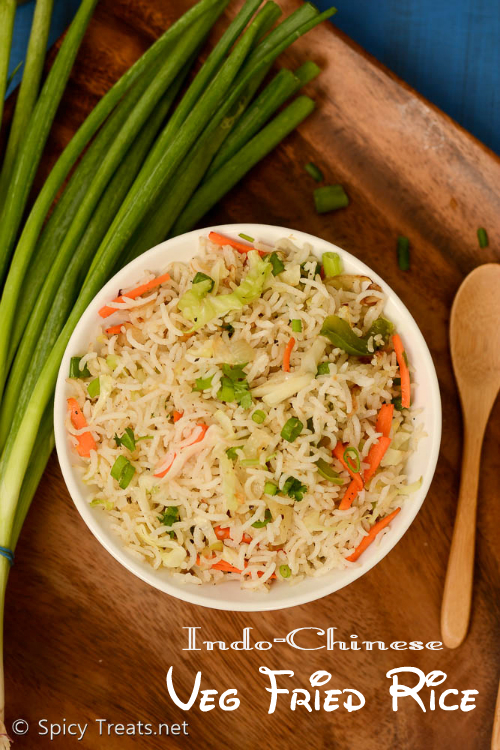 Indo-Chinese Veg Fried Rice