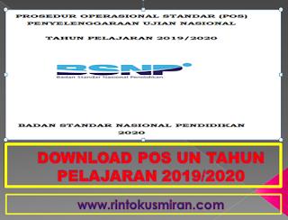 DOWNLOAD POS UN TAHUN PELAJARAN 2019/2020