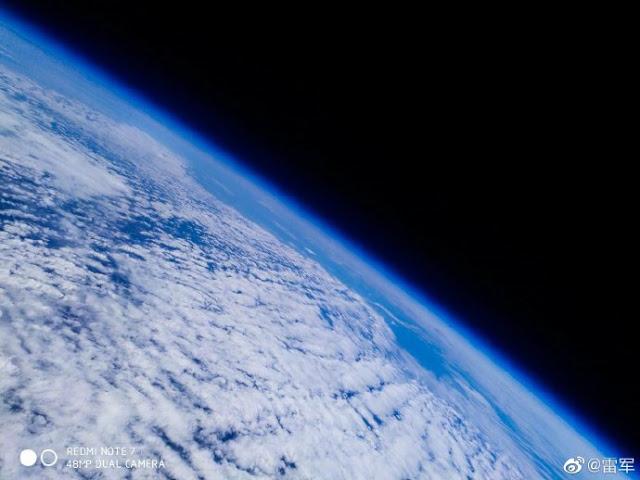 شياومي ترسل هاتف Redmi Note 7 إلى الفضاء لالتقاط صورة للأرض وقد نجح في ذلك