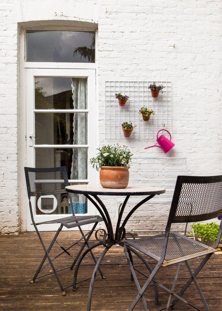 casa familiar con aires vintage y escandinavos. Terraza