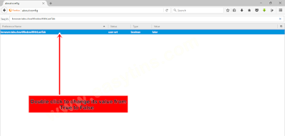 Mozilla Browser about:config
