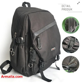 Tas Strappy Casual Backpack Pria, Polo Summer Backpack PSR05BK  ARMAILA DROPSHIPPER