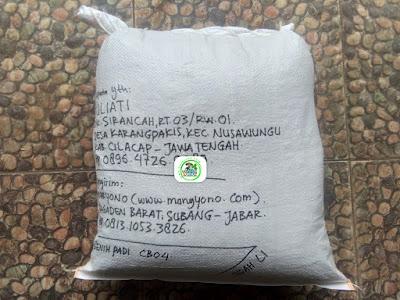 Benih Padi Pesanan  JULIATI Cilacap, Jateng.    (Setelah di Packing).