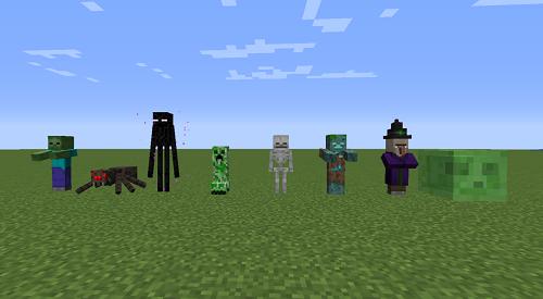 Các loài mob hình như thuần hóa trong vòng Minecraft