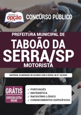 Apostila Concurso Prefeitura de Taboão da Serra SP 2020 PDF Edital Online Inscrições