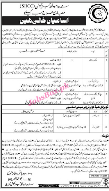 sindh-health-care-commission-jobs-2021-shcc-advertisement