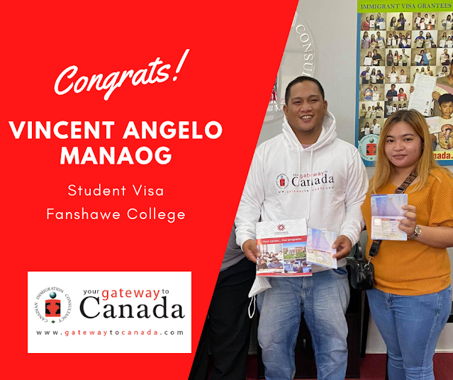 Vincent Angelo Manaog is going to Fanshawe College! Congrats!