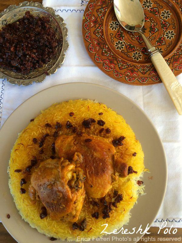 Ogni Riccio Un Pasticcio Blog Di Cucina Zareshk Polo Riso Basmati Con Pollo Allo Zafferano E Berberries