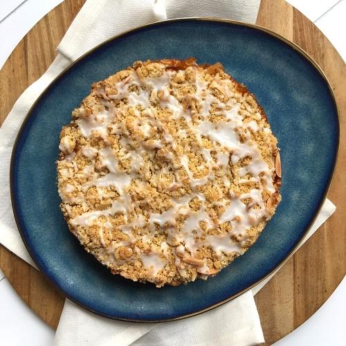 kleiner Apfel-Streuselkuchen ohne Ei [18 cm]