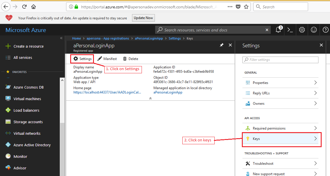 net: Implementing authentication using Azure Active Directory and