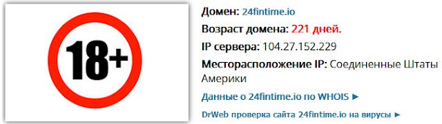 Сайт 24fintime.io является опасным для пользователей