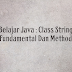 Belajar Java : Class String Fundamental Dan Method