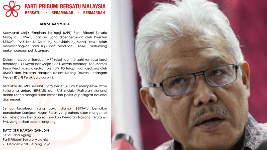 PN Belum Pasti Sokong UMNO di Perak