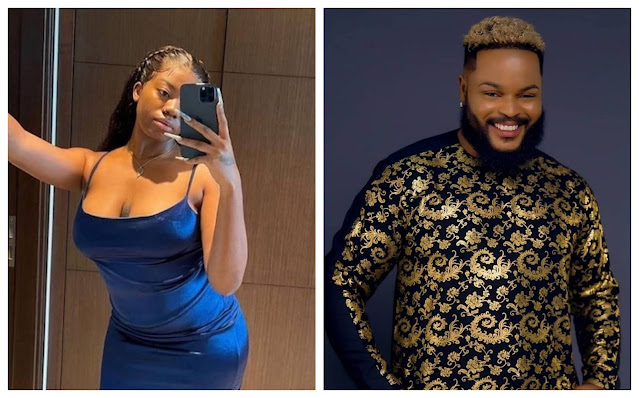 #BBNaija: Angel is a marketer - Whitemoney says after Angel deliberately shows off her kpekus (video)