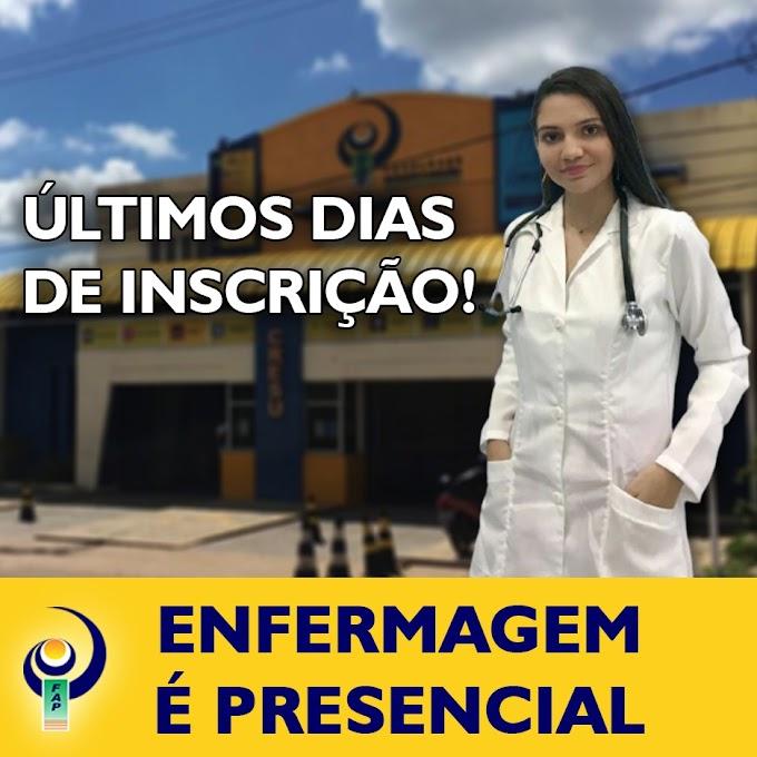 FAP encerra inscrições para Vestibular Especial para o curso de Enfermagem Presencial nesta quinta-feira