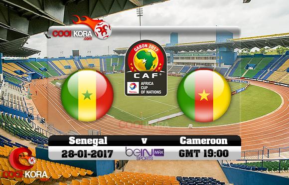 مشاهدة مباراة السنغال والكاميرون اليوم كأس أمم أفريقيا 28-1-2017 علي بي أن ماكس