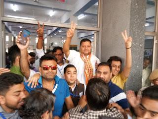 एनआईटी विधानसभा क्षेत्र से कांग्रेस प्रत्याशी नीरज शर्मा जीते