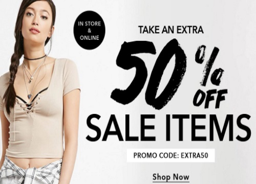 Forever 21 Extra 50% Off Sale Items Promo Code