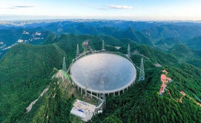 El radio telescopio mas grande del mundo Esta en china radiotelescopio fast