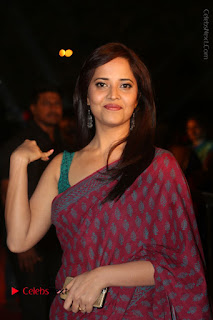 Telugu Television Anchor Anasuya Stills in Saree at Gemini TV Puraskaralu 2016 Event  0079.JPG