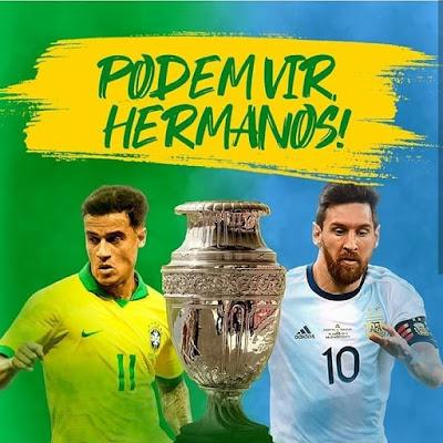 Brazil vs Argentina Live Copa America Semi Final 3.7.2019