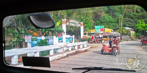 Entrance of Marinduque Hot Spring Resort in town of Buenavista