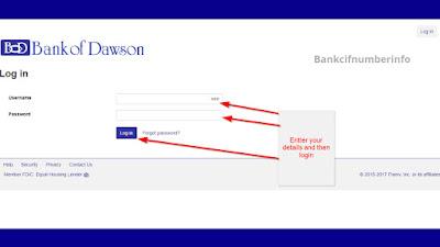 Login on Bank of Dawson