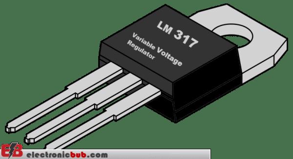 LM317 منظم الجهد القابل للتعديل