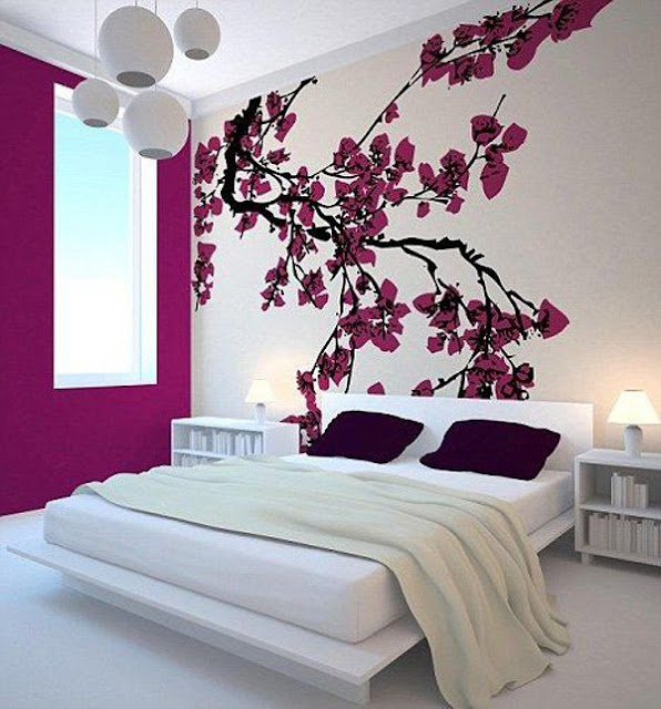 Modern bedroom wall art ideas