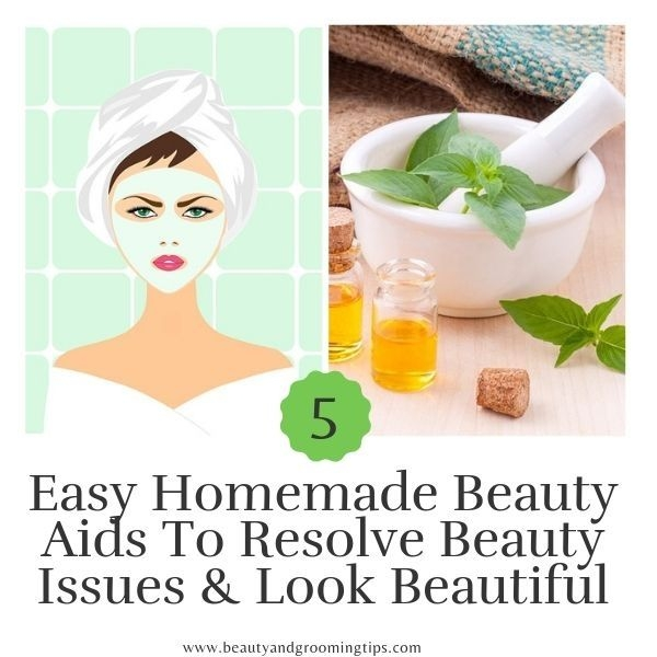 woman with face pack & mortar and pestle for home remedy illustration