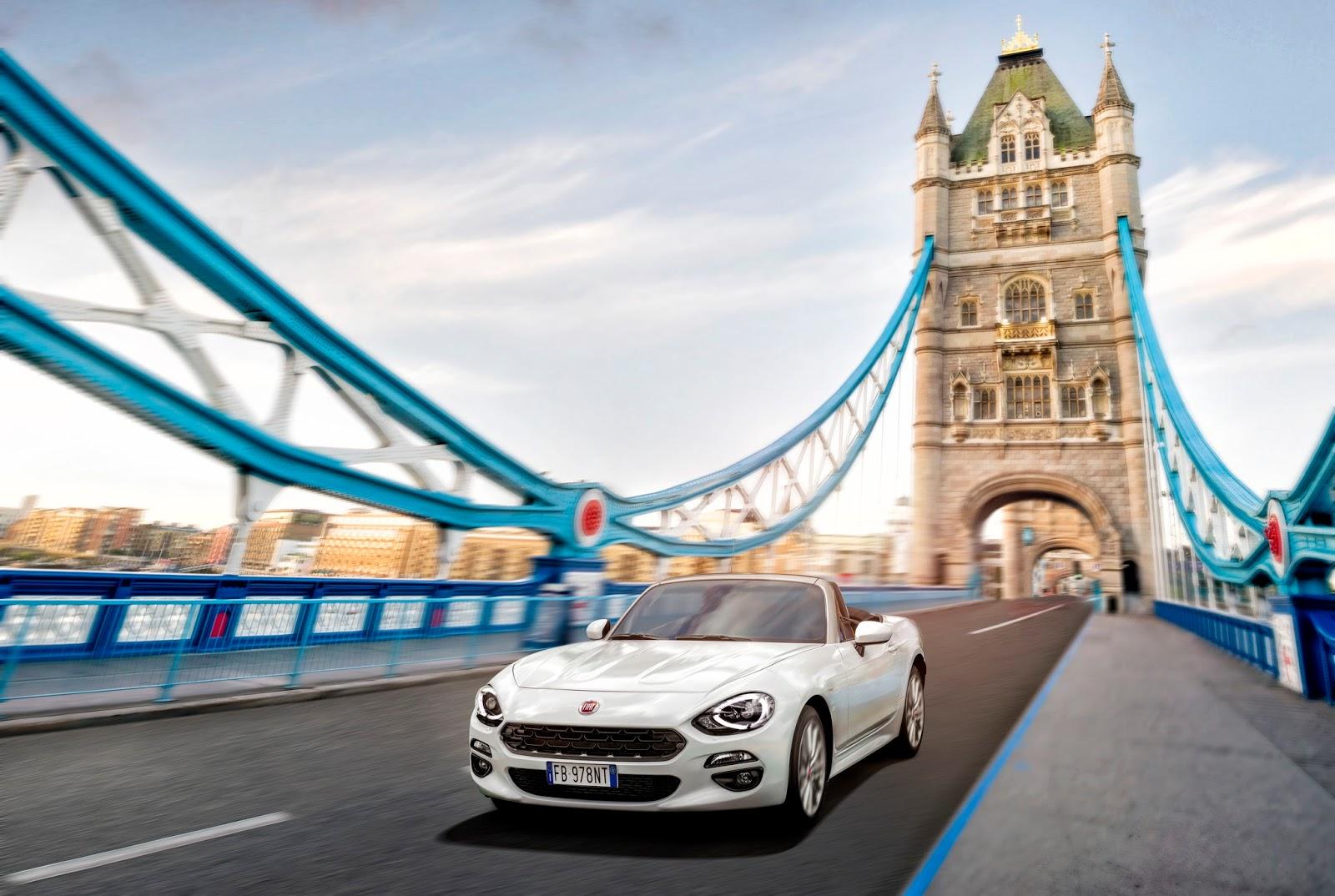LONDRA Το Fiat 124 Spider άρχισε τις εξορμήσεις